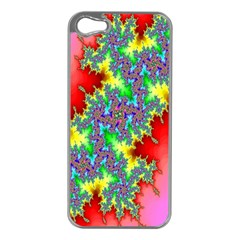 Colored Fractal Background Apple iPhone 5 Case (Silver)
