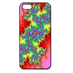 Colored Fractal Background Apple Iphone 5 Seamless Case (black)