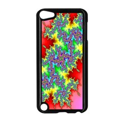 Colored Fractal Background Apple iPod Touch 5 Case (Black)