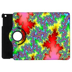 Colored Fractal Background Apple iPad Mini Flip 360 Case