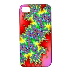 Colored Fractal Background Apple iPhone 4/4S Hardshell Case with Stand