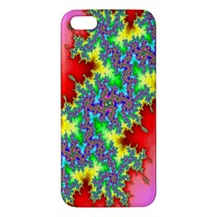 Colored Fractal Background Apple iPhone 5 Premium Hardshell Case