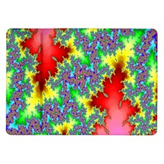 Colored Fractal Background Samsung Galaxy Tab 10.1  P7500 Flip Case
