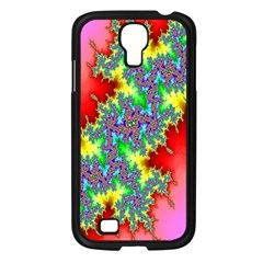 Colored Fractal Background Samsung Galaxy S4 I9500/ I9505 Case (Black)