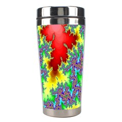 Colored Fractal Background Stainless Steel Travel Tumblers