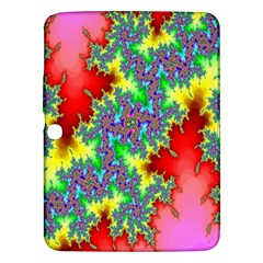 Colored Fractal Background Samsung Galaxy Tab 3 (10 1 ) P5200 Hardshell Case