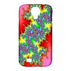 Colored Fractal Background Samsung Galaxy S4 Classic Hardshell Case (pc+silicone)