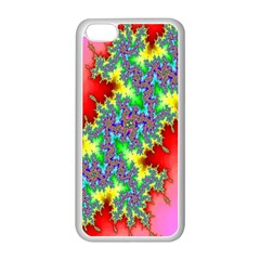 Colored Fractal Background Apple Iphone 5c Seamless Case (white)