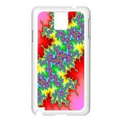 Colored Fractal Background Samsung Galaxy Note 3 N9005 Case (White)