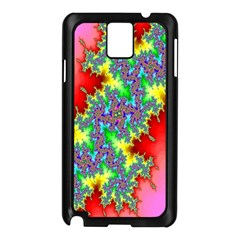 Colored Fractal Background Samsung Galaxy Note 3 N9005 Case (Black)