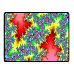 Colored Fractal Background Double Sided Fleece Blanket (Small)
