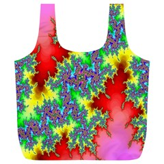 Colored Fractal Background Full Print Recycle Bags (L)