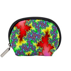 Colored Fractal Background Accessory Pouches (Small)