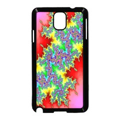 Colored Fractal Background Samsung Galaxy Note 3 Neo Hardshell Case (Black)