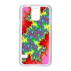 Colored Fractal Background Samsung Galaxy S5 Case (White)