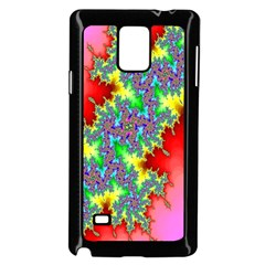 Colored Fractal Background Samsung Galaxy Note 4 Case (black)