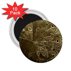 Peacock Metal Tray 2 25  Magnets (10 Pack)