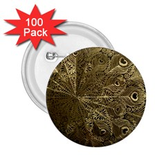 Peacock Metal Tray 2 25  Buttons (100 Pack)