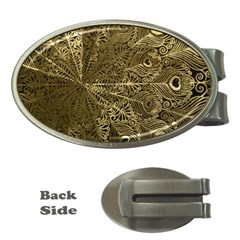Peacock Metal Tray Money Clips (oval)