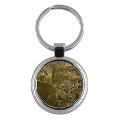 Peacock Metal Tray Key Chains (round)