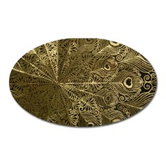 Peacock Metal Tray Oval Magnet