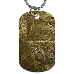 Peacock Metal Tray Dog Tag (Two Sides)