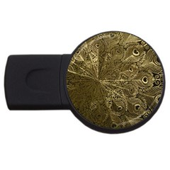 Peacock Metal Tray USB Flash Drive Round (1 GB)