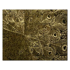 Peacock Metal Tray Rectangular Jigsaw Puzzl