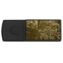 Peacock Metal Tray USB Flash Drive Rectangular (4 GB)
