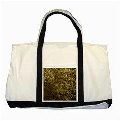 Peacock Metal Tray Two Tone Tote Bag