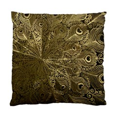 Peacock Metal Tray Standard Cushion Case (One Side)