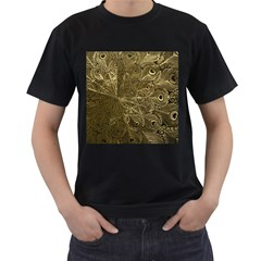 Peacock Metal Tray Men s T Shirt (black)