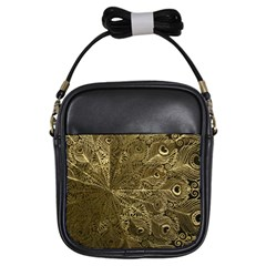 Peacock Metal Tray Girls Sling Bags