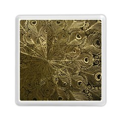 Peacock Metal Tray Memory Card Reader (square)