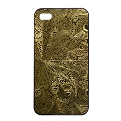 Peacock Metal Tray Apple iPhone 4/4s Seamless Case (Black)