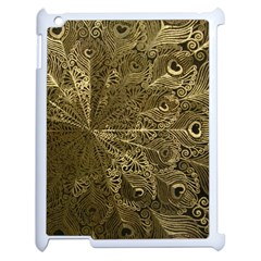 Peacock Metal Tray Apple iPad 2 Case (White)