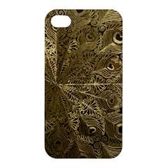 Peacock Metal Tray Apple iPhone 4/4S Premium Hardshell Case