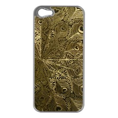 Peacock Metal Tray Apple iPhone 5 Case (Silver)