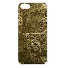 Peacock Metal Tray Apple iPhone 5 Seamless Case (White)