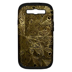 Peacock Metal Tray Samsung Galaxy S III Hardshell Case (PC+Silicone)
