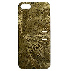 Peacock Metal Tray Apple iPhone 5 Hardshell Case with Stand