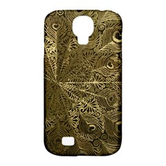 Peacock Metal Tray Samsung Galaxy S4 Classic Hardshell Case (PC+Silicone)
