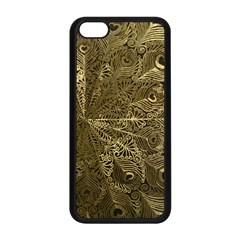 Peacock Metal Tray Apple Iphone 5c Seamless Case (black)