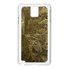 Peacock Metal Tray Samsung Galaxy Note 3 N9005 Case (white)