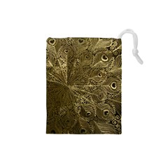 Peacock Metal Tray Drawstring Pouches (Small)