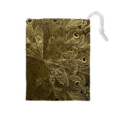Peacock Metal Tray Drawstring Pouches (Large)