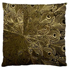 Peacock Metal Tray Standard Flano Cushion Case (Two Sides)