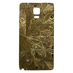 Peacock Metal Tray Galaxy Note 4 Back Case