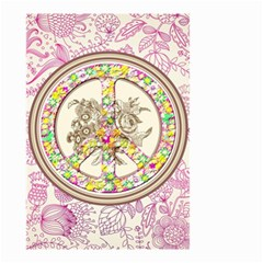 Peace Logo Floral Pattern Small Garden Flag (Two Sides)