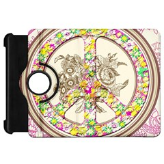 Peace Logo Floral Pattern Kindle Fire HD 7